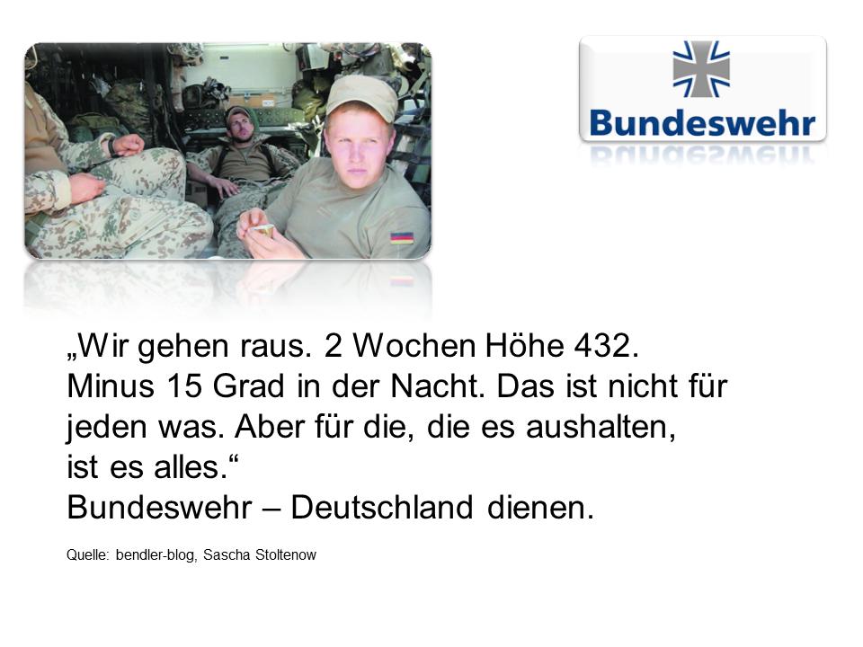 Bundeswehr Nachwuchswerbung 3