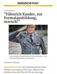 Helmut Michels ist Redakteur der Rheinischen Post und Oberst der Reserve